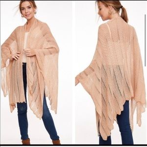 Love Sweaters - Open Knit Boho Cardigan wrap w/ Arm Holes